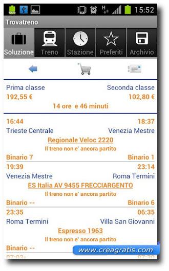 Immagine dell'app Trovatreno per Android