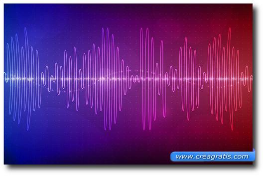 Immagine di onde audio per aprire il paragrafo sul controllo vocale degli smartphone