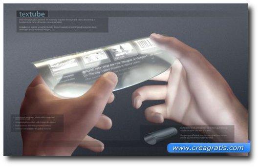 Immagine del TexTube, una futura tecnologia per gli smartphone