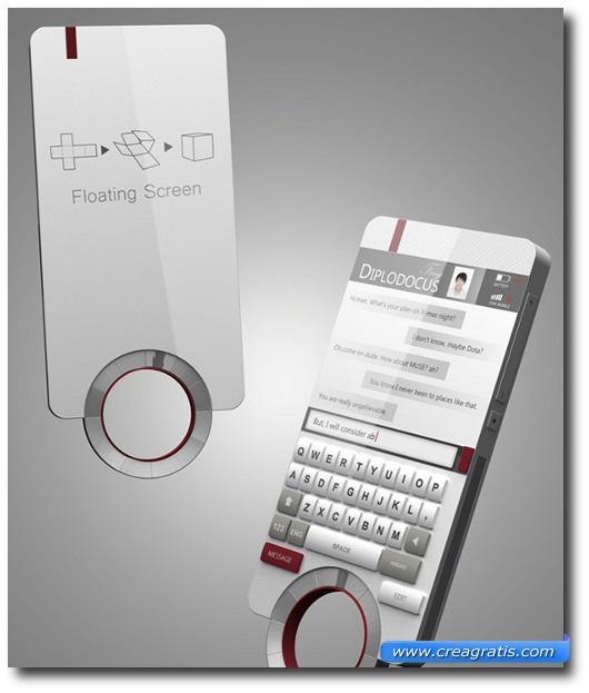 Immagine di uno smartphone con schermo 3D