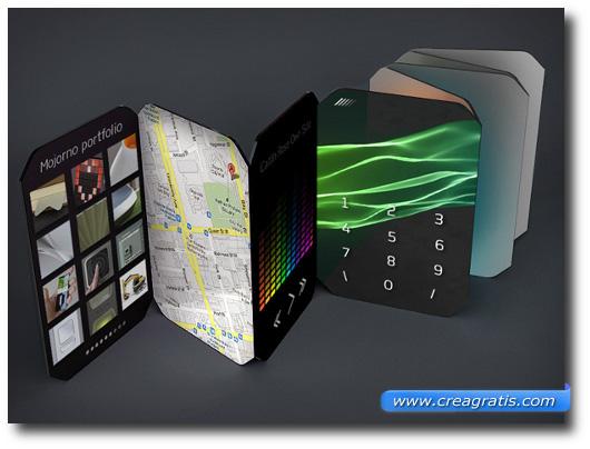 Immagine di uno smartphone fatto con i nanomateriali
