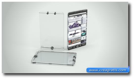 Immagine di uno smartphone trasparente