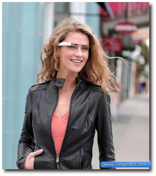 Immagine del Poject Glass di Google