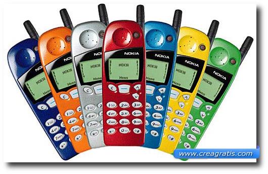 Immagine del cellulare Nokia 5110 del 1998