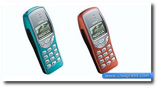 Immagine di un cellulare Nokia 3210 del 1999