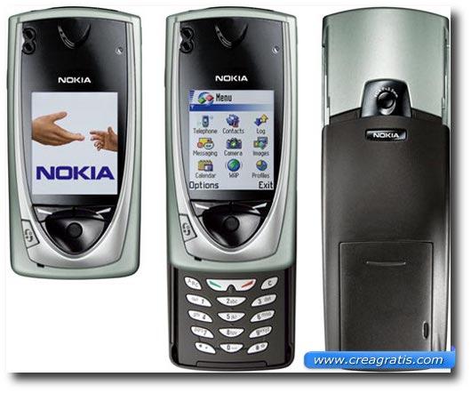 Immagine di un cellulare Nokia 7650 del 2002