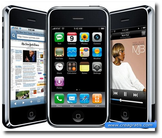 Immagine del primo iPhone del 2007