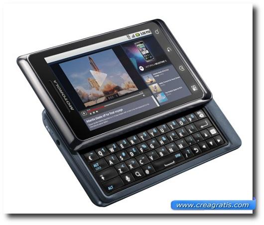 Immagine di uno smartphone Motorola Milestone del 2009