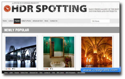 Immagine del sito HDRSpotting
