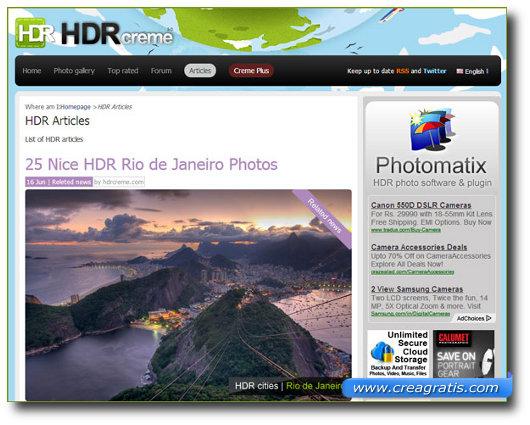 Immagine del sito HDR Creme