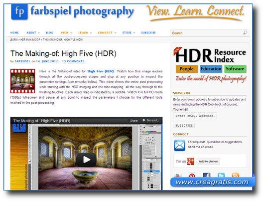 Immagine del sito HDR Cookbook