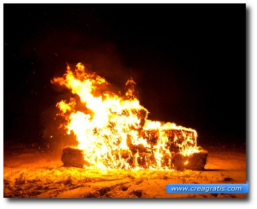 Immagine generica di un fuoco