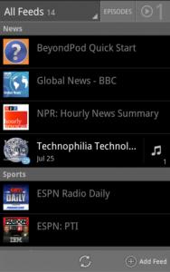 Immagine dell'applicazione BeyondPod per Android