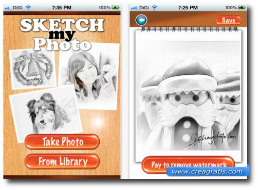 Immagine dell'applicazione SketchMyPhoto Mobile