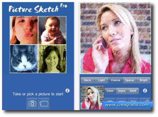 Immagine dell'applicazione Picture Sketch Pro