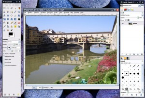 Interfaccia grafica del programma GIMP
