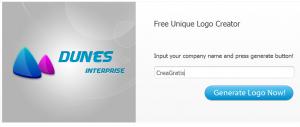 Immagine del sito Logotype Creator per creare loghi