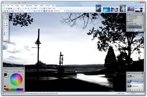 Interfaccia grafica del programma Paint.NET