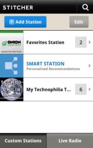Immagine dell'applicazione Stitcher Radio per Android