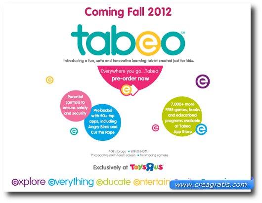 Immagine con alcune caratteristiche di Tabeo