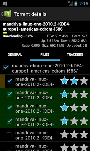 Immagine di tTorrent per Android