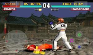 Immagine di un gioco per Playstation in funzione su Android