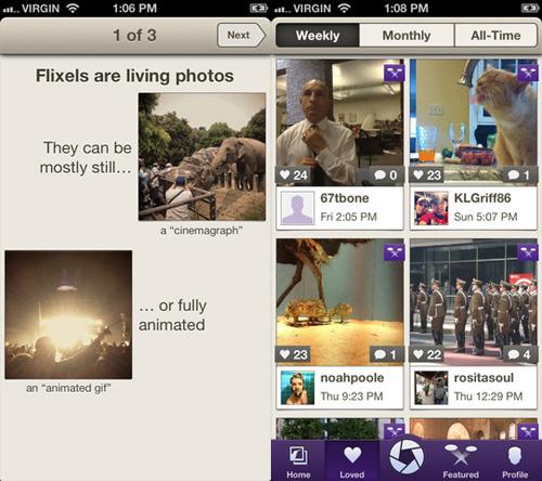 Immagine dell'applicazione Flixel per iPhone
