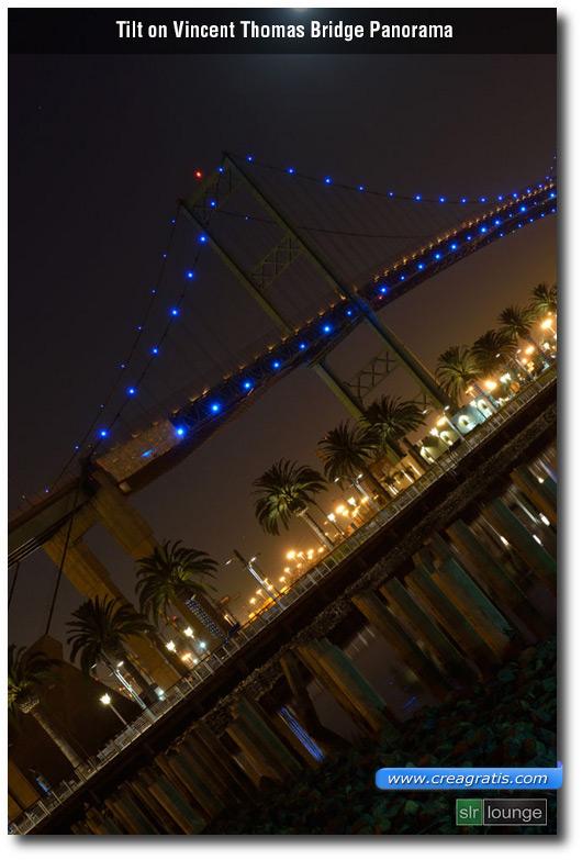 Foto obliqua di un ponte