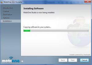 Schermata di installazione dell'emulatore MobiOne