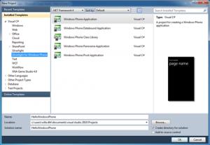 Interfaccia di Microsoft Visual Studio 2010 Express