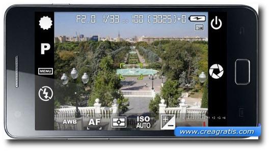 Interfaccia grafica dell'applicazione Camera FV-5