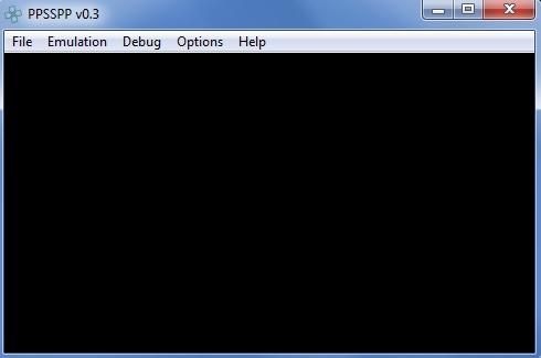 Interfaccia grafica dell'emulatore PPSSPP per Windows
