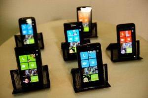 Immagine di uno smartphone Windows Phone