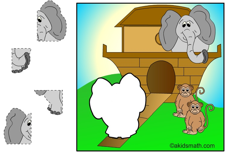 Disegno dell'Arca di Noè da ritagliare e incollare