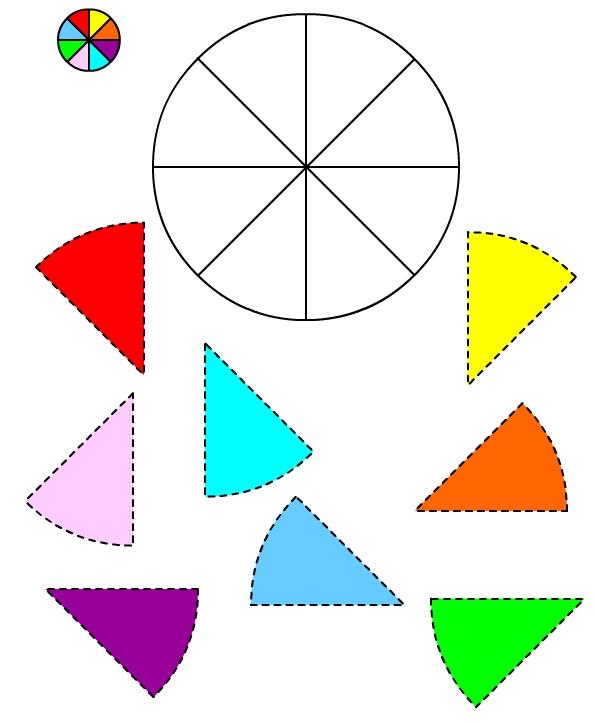 Immagine del Cerchio #3 da ritagliare e incollare