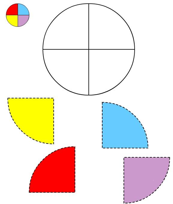 Figura del Cerchio #2 da ritagliare e incollare