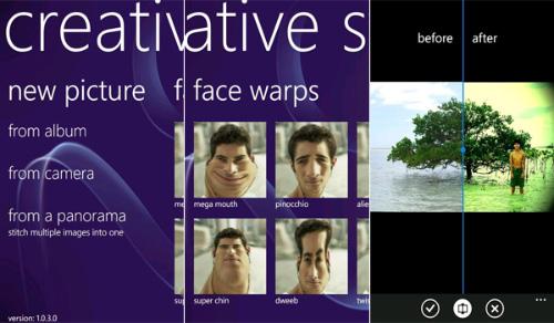 Immagine dell'applicazione Creative Studio