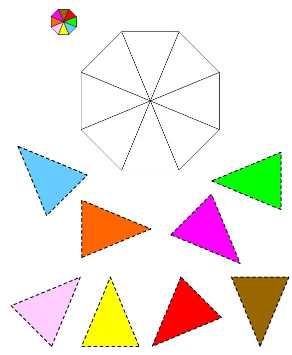 Figura dell'Ottagono #2 da ritagliare e incollare