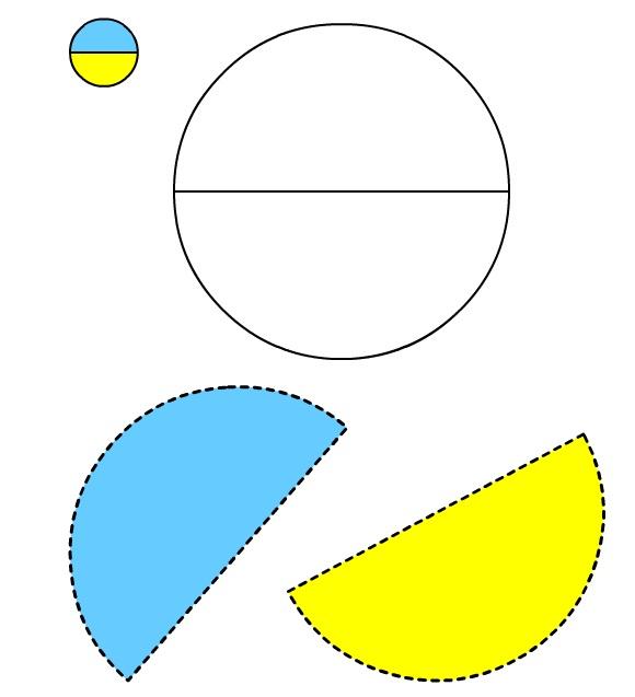 Figura del Cerchio #1 da ritagliare e incollare