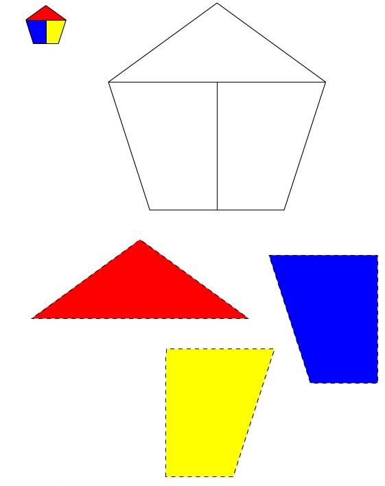 Figura del Pentagono #1 da ritagliare e incollare