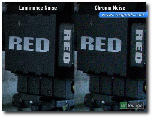 Immagine con i due tipi di rumore digitale a confronto