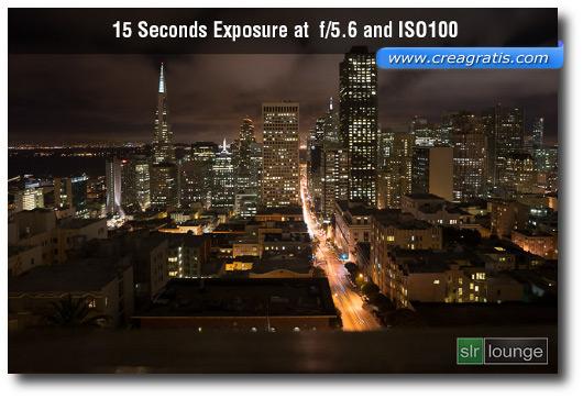 Immagine di esempio sull'esposizione ISO