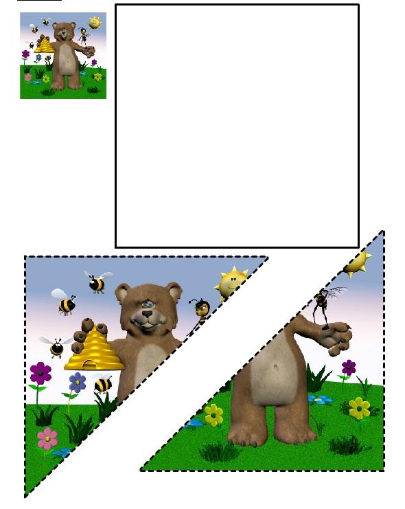 Disegno di un Orso da ritagliare e incollare