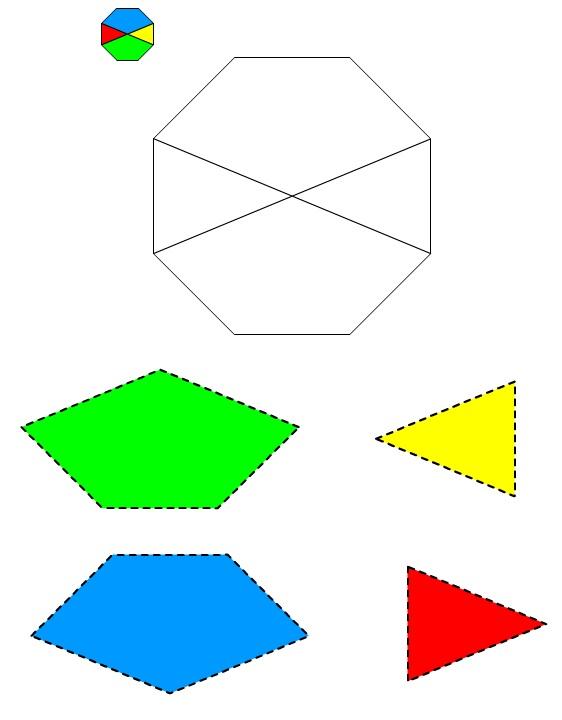 Figura dell'Ottagono #1 da ritagliare e incollare