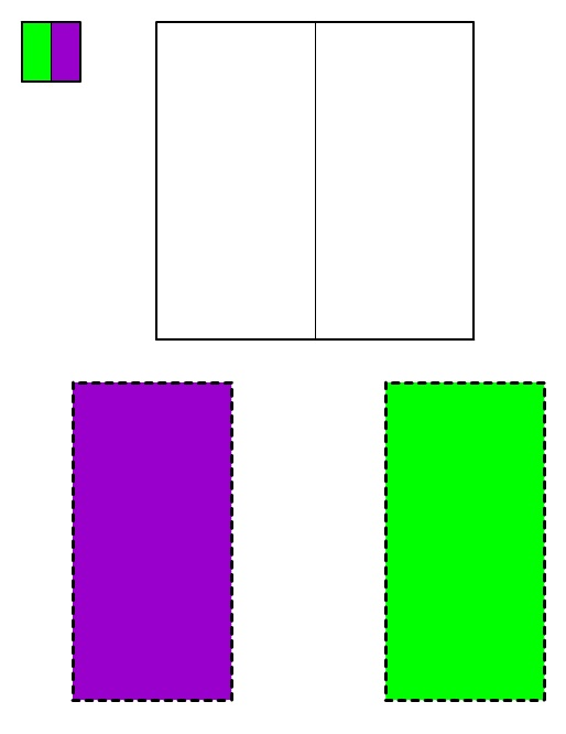Immagine del Quadrato #1 da ritagliare e incollare
