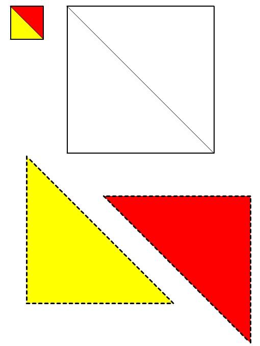 Figura del Quadrato #2 da ritagliare e incollare