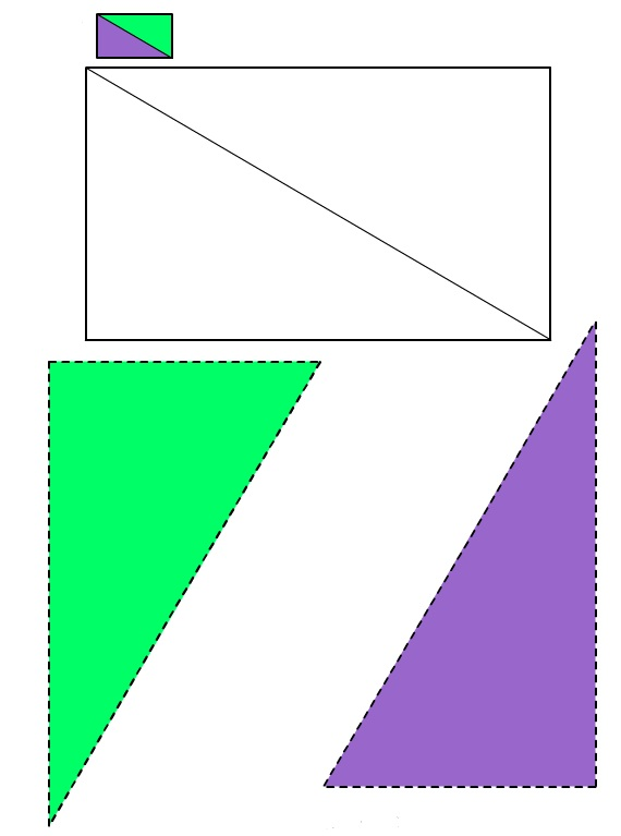 Figura del Rettangolo #1 da ritagliare e incollare