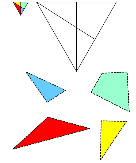 Immagine del Triangolo #2 da ritagliare e incollare
