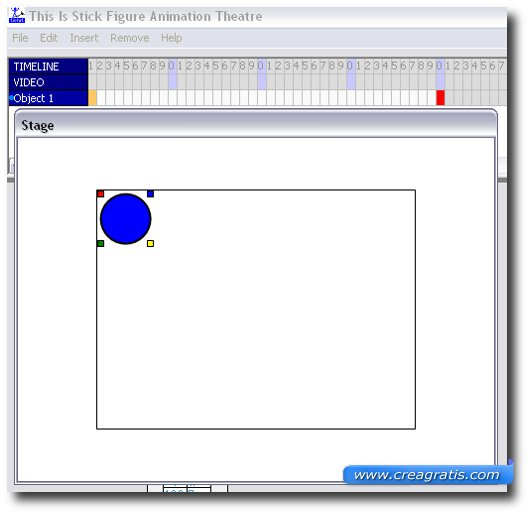 Inserimento della palla nella schermata del programma
