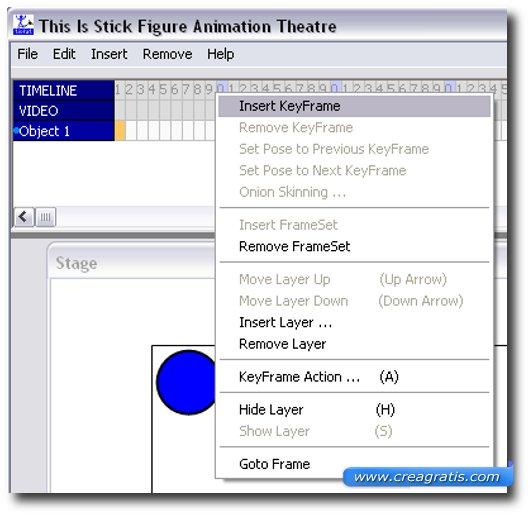 Schermata di inserimento dei frame e del loro numero